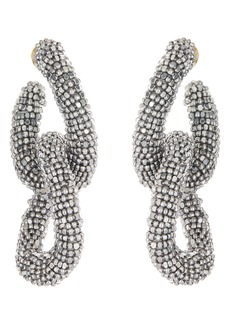 Oscar de la Renta Beading Links Drop Earrings