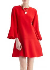 Oscar de la Renta Bell Sleeve A Line Dress