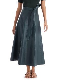 Oscar de la Renta Belted A Line Midi Skirt