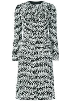 Oscar de la Renta belted textured coat - Black
