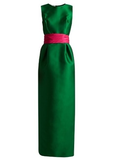 Oscar De La Renta Bi-colour satin column gown