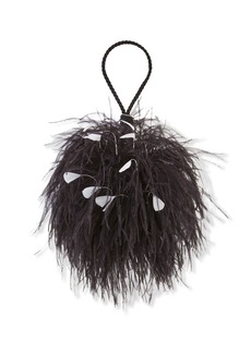 Oscar de la Renta Billard Faux-Feather Clutch Bag