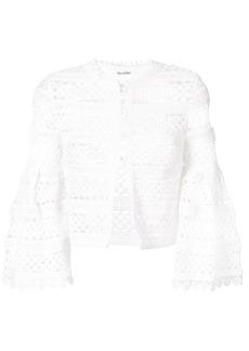 Oscar de la Renta Birdsnest bell sleeve jacket - White
