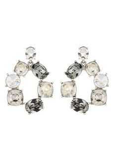 Oscar de la Renta Bold Crystal Hoop Drop Earrings