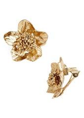 Oscar de la Renta Bold Flower Stud Earrings