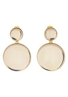 Oscar de la Renta Bold Resin Mirror Drop Clip-On Earrings
