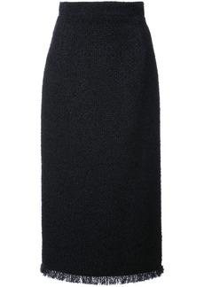 Oscar de la Renta boucle tweed pencil skirt - Black