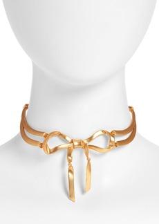 Oscar de la Renta Bow Choker Necklace