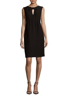 Oscar de la Renta Bow Front V-Neck Dress