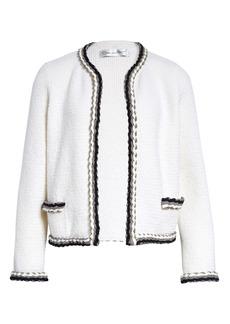 Oscar de la Renta Braid Detail Knit Jacket