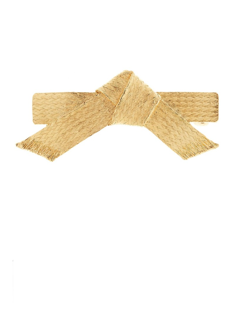 Oscar de la Renta Braided Chain Barrette