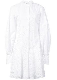 Oscar de la Renta broderie anglaise shirt dress - White