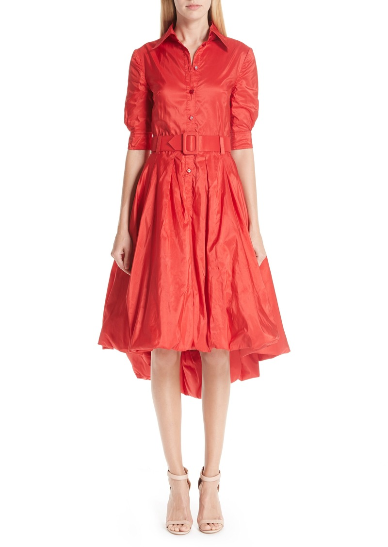 Oscar de la Renta Bubble Hem Silk Dress