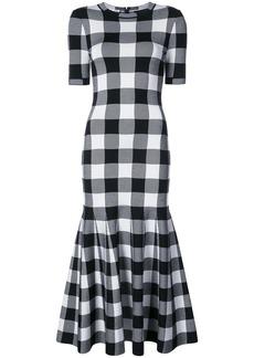 Oscar de la Renta checked dress - Black
