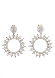 Oscar de la Renta Circle Drop Earrings