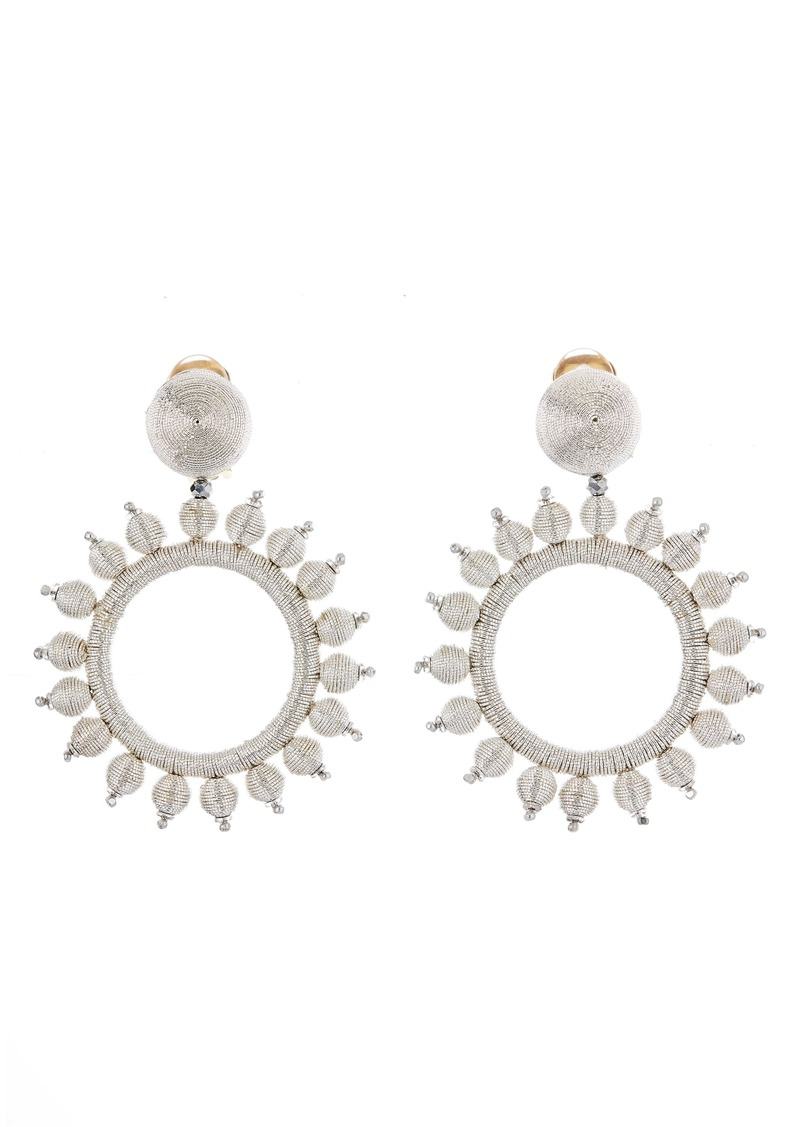 Oscar de la Renta Circle Drop Earrings