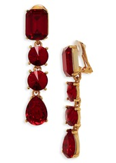 Oscar de la Renta Classic Crystal Linear Drop Earrings