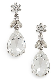 Oscar de la Renta Classic Crystal Teardrop Earrings