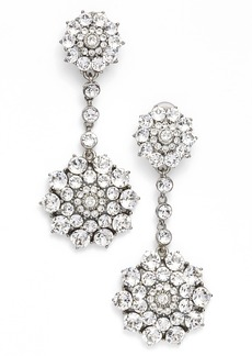 Oscar de la Renta 'Classic Jeweled' Swarovski Crystal Drop Earrings