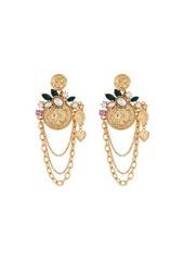 Oscar de la Renta Coin Charm-Chain Earrings