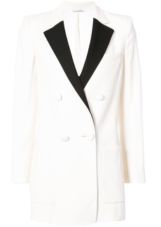 Oscar de la Renta contrast trim blazer - White