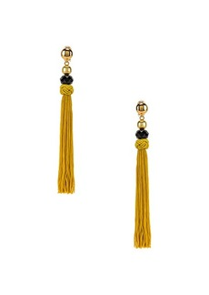 Oscar de la Renta Cord Tassel Earrings