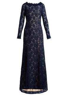 Oscar De La Renta Corded floral-lace gown