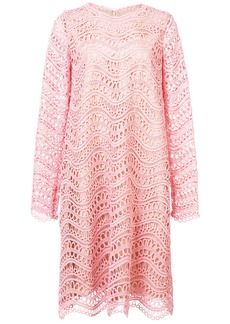 Oscar de la Renta crochet-knit shift dress