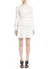 Oscar de la Renta Crochet Ruffle Dress