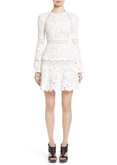 Oscar de la Renta Crochet Ruffle Dress