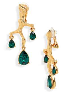 Oscar de la Renta Crystal Branch Earrings