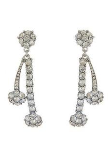 Oscar de la Renta Crystal Double Drop Earrings