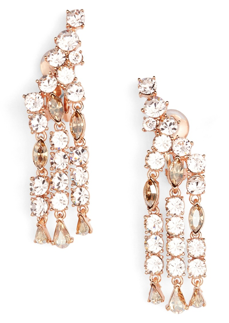 a9a871981 Oscar de la Renta Oscar de la Renta Crystal Fan Drop Earrings | Jewelry