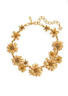 Oscar de la Renta Crystal Flower Collar Necklace