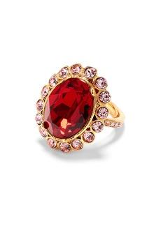 Oscar de la Renta Crystal Flower Ring