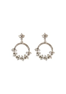 Oscar de la Renta Crystal Hoop Earrings