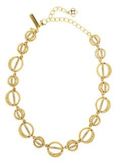 Oscar de la Renta Crystal Pavé Globe Necklace