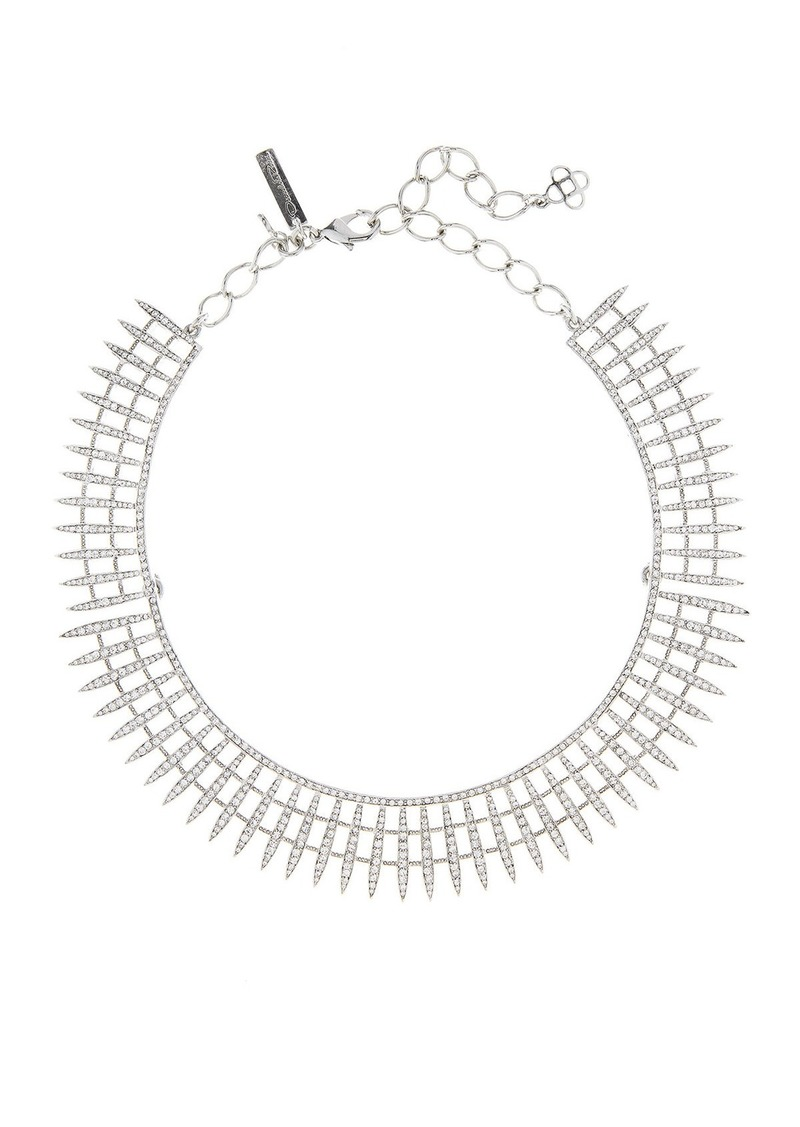 Oscar de la Renta Crystal Pave Point Necklace