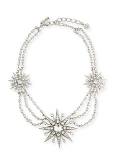 Oscar de la Renta Crystal Star Statement Necklace