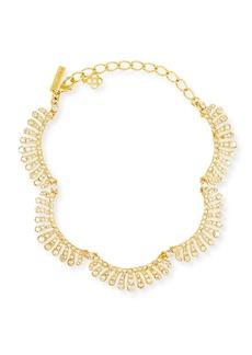 Oscar de la Renta Curved Crystal Choker Necklace