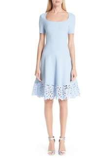 Oscar de la Renta Cutout Hem A-Line Dress