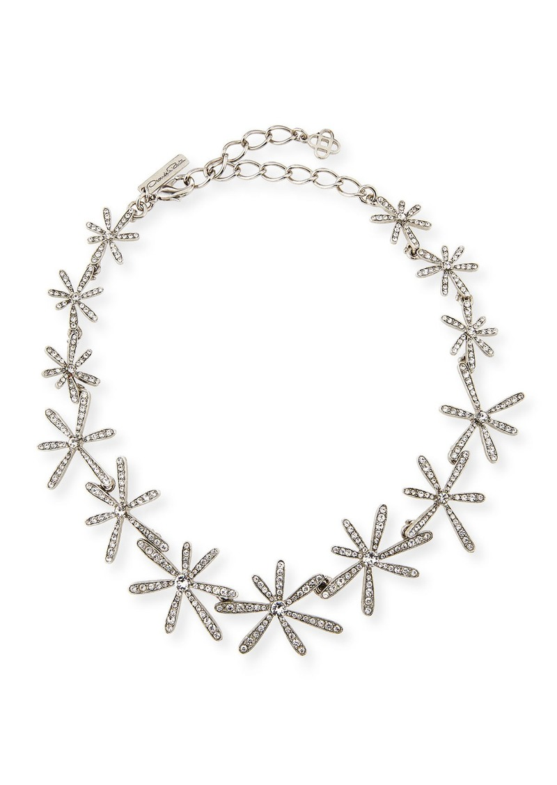 Oscar de la Renta Daisy Crystal Collar Necklace