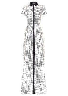 Oscar De La Renta Daisy polka-dot print gown