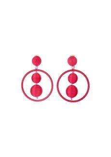 Oscar de la Renta Double Ball & Hoop Clip-On Earrings
