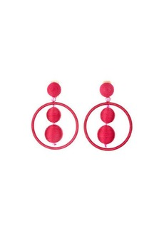 Oscar de la Renta Double Ball & Hoop Clip-On Earrings