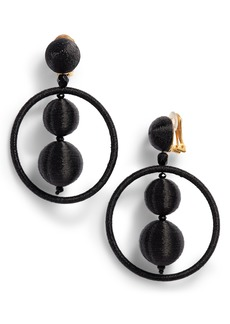 Oscar de la Renta Double Ball Hoop Earrings