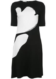 Oscar de la Renta drop waist dress - Black