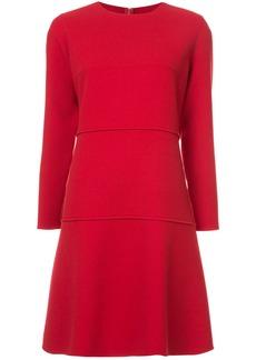 Oscar de la Renta drop waist dress - Red
