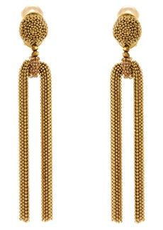 Oscar de la Renta Embellished Chain Drop Earrings