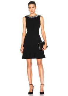 Oscar de la Renta Embellished Collar Cocktail Dress
